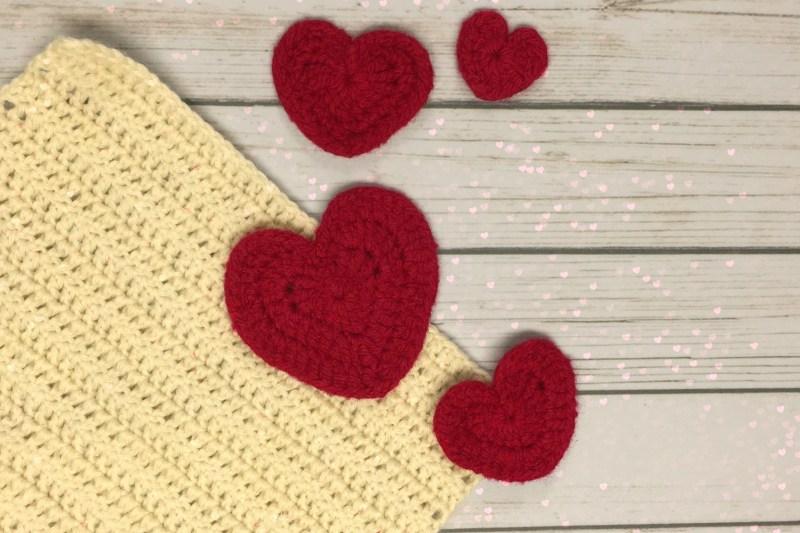 Felted Crochet Hearts – Free Crochet Pattern