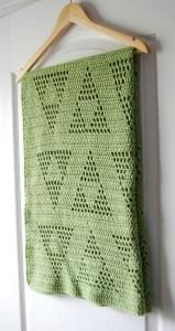 free crochet baby blanket triangle motif legend of zelda triforce