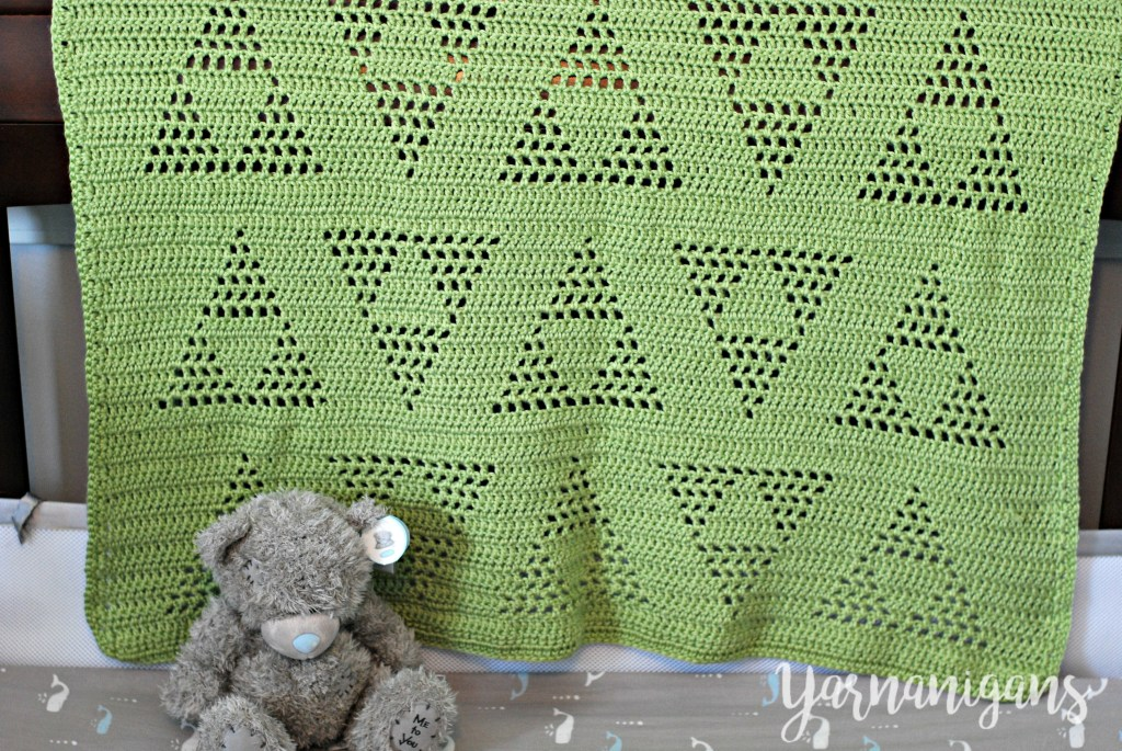 free crochet baby blanket triangle motif legend of zelda triforce