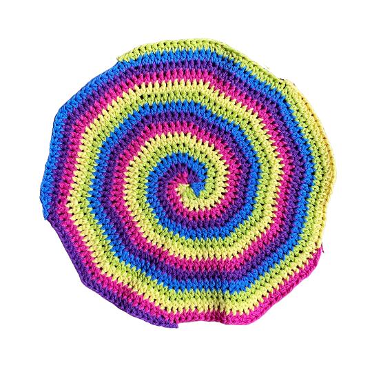 Crochet rainbow inspired dishcloths