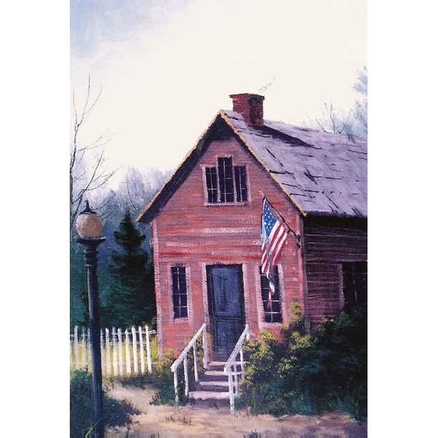0406 Little Red School House Jerry Yarnell School Of Fine Art