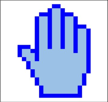 Hands of Blue (Right)