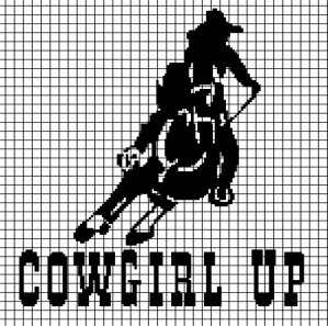 Cowgirl Up! (Chart/Graph AND Row-by-Row Written Instructions)