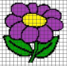 Flower Pillow – (Chart/Graph AND Row-by-Row Written Instructions)