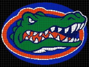Florida Gators (Chart/Graph AND Row-by-Row Written Instructions) – 01
