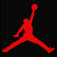 Air Jordan Logo (Chart/Graph AND Row-by-Row Written Crochet Instructions) - 01