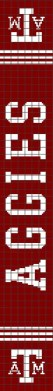 Texas A&M Aggies Scarf (Graph AND Row-by-Row Written Crochet Instructions) – 01