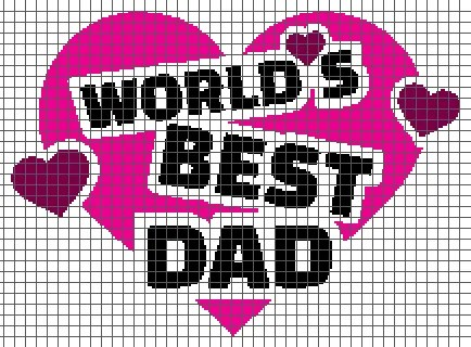 World's Best Dad (Graph AND Row-by-Row Written Crochet Instructions) – 01