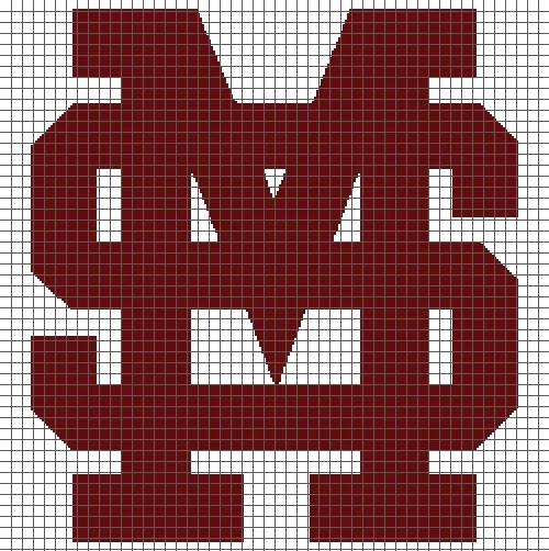 Mississippi State University (Graph AND Row-by-Row Written Crochet Instructions) – 04