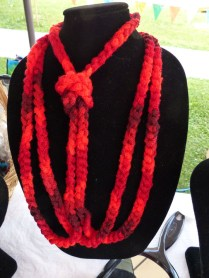 New yarn necklaces