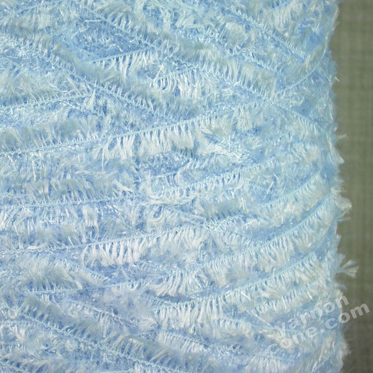 4 ply glitter feather yarn eyelash baby bluecone