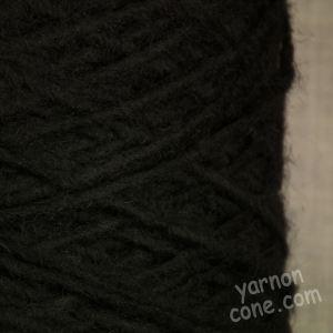 Black alpaca wool blend yarn aran dk double knitting yarn on cone