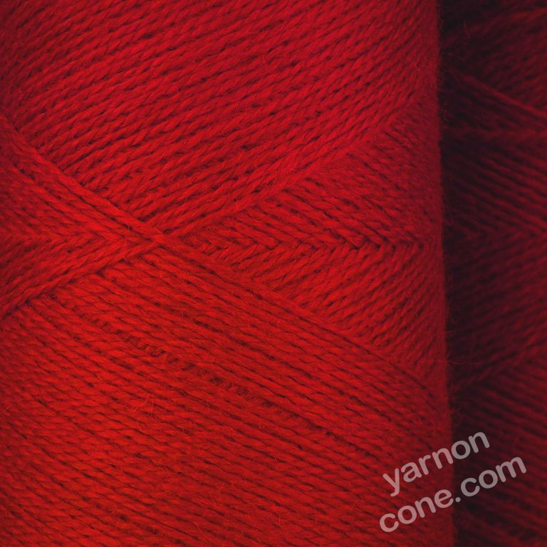 Jura weaving wool 4 ply yarn cone ruby red