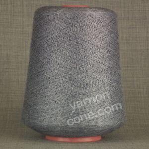 2/48NM cobweb 1 ply cashmere cotton viscose yarn on cone denim blue grey knit weave crochet hand machine