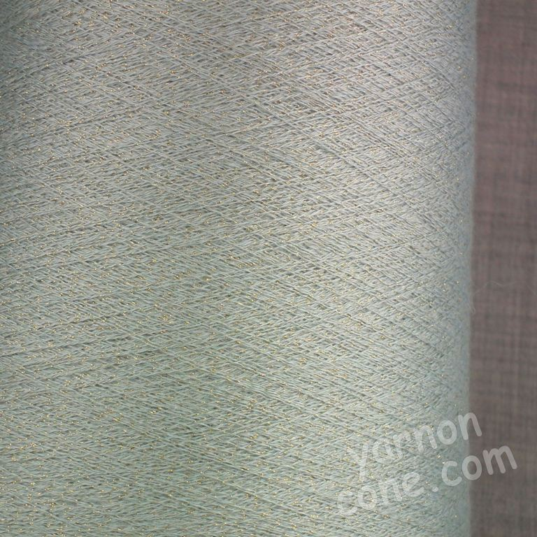 cashmere silk lurex 2/60 NM machine knitting weaving cobweb yarn green gold 1 ply on cone