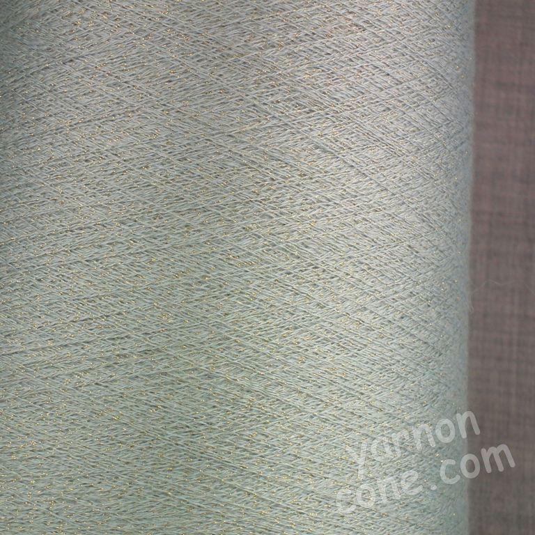 cashmere silk lurex 2/60 NM machine knitting weaving cobweb yarn green gold 1 ply on cone