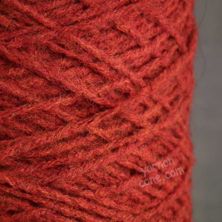 alpaca merino wool blend soft 4 ply hand and machine knitting yarn on cone uk rust orange