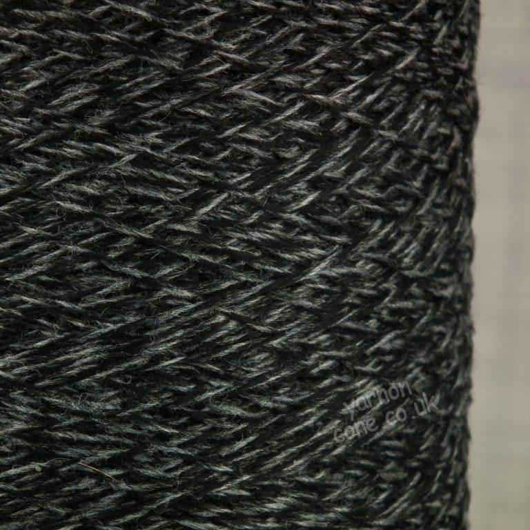 Todd & Duncan pure cashmere Coned yarn knitting yarn 3/28s NM Black Grey Marl