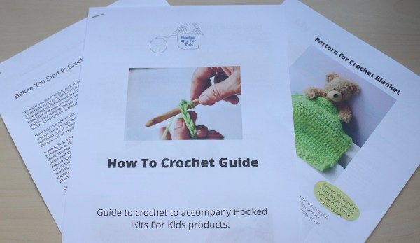 How to crochet guide for our crochet kits for kids