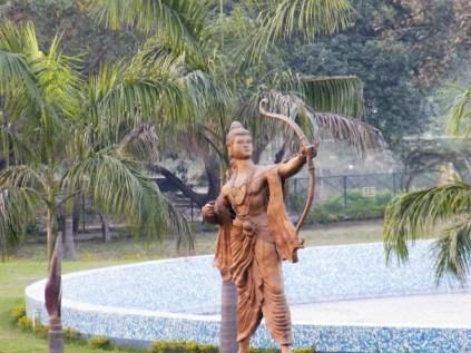 Metal statue of Lakshman.