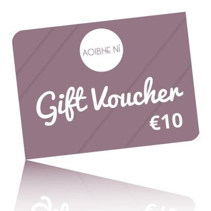 digital rendering of a 10 euro gift card