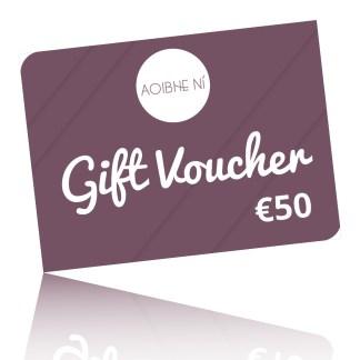 a 50 Euro gift voucher card