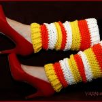 Crochet Tutorial: Candy Corn Leg Warmers