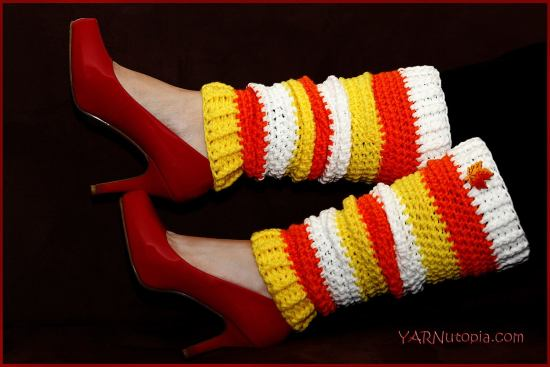 Candy Corn Leg Warmers