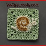 Crochet Tutorial: Snail's Pace Granny Square