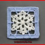 Crochet Tutorial: Frosty Flakes Granny Square