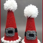 Crochet Tutorial: Sparkle and Puff Holiday Cones