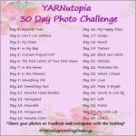 YARNutopia 30 Day Photo Challenge