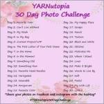 YARNutopia 30 Day Photo Challenge