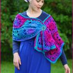 Crochet Tutorial: Jewel-Tone Lotus Wrap