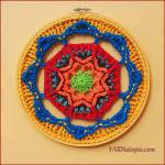 Crochet Tutorial: How to Crochet a Mandala in an Embroidery Hoop