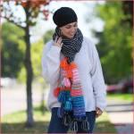 Crochet Tutorial: Boho Tassel Scarf