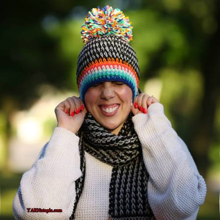 fa85bab0ed8 Every great scarf needs a fun hat to match to complete the set! Here is my  Boho Pom Hat to make this super cute look!! This duo will make a FABULOUS  gift ...