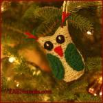 12 Days of Christmas: Owl Ornament