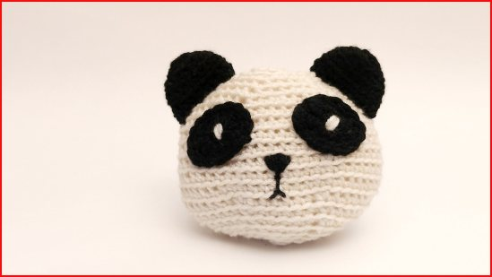 Amigurumi Lying Panda Crochet Tutorial and Pattern - Crochet.msa.plus | 309x550