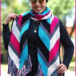 Crochet Tutorial: Arrows and Fringe Boho Fashion Scarf
