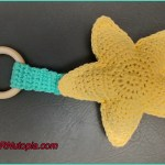 Crochet Tutorial: Star Ring Rattle Teething Toy