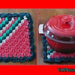 12 Days of Christmas: Corner to Corner (C2C) Holiday Hot Pad – FREE Written Crochet Pattern