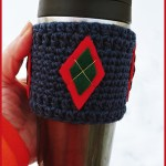 12 Days of Christmas: Argyle Cup Cozy – FREE Written Crochet Pattern