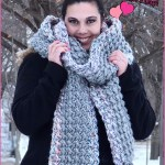 FREE Written Crochet Pattern: Two-Stitch Grande Scarf