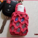 FREE Written Crochet Pattern: Hand Sanitizer Cozy