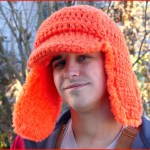 FREE Written Crochet Pattern: Blaze Orange Woodsman Hat