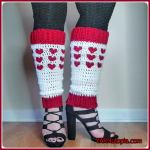 FREE Written Crochet Pattern: Happy Heart Stitch Leg Warmers