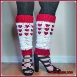 FREE Written Crochet Pattern: Happy Heart Stitch Leg Warmers