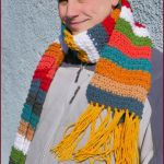 FREE Written Crochet Pattern: Winter Stripes Scarf