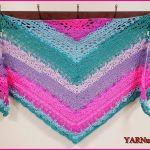 FREE Written Crochet Pattern: Summer Breeze Triangle Shawl